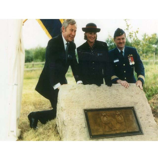 Commemorative plaque for combined RAF and RCAF crew of crashed WW2 bomber found at London Heathrow