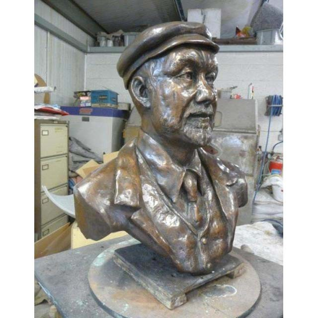 Portrait Sculpture of Guiseppe Codali, designer of the Alameda Gardens, Gibraltar. At the foundry